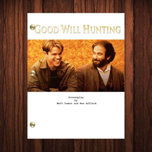 Good Will Hunting Movie Script Reprint Full Screenplay Full Script Robin William