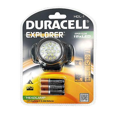 Duracell LED 4 Modi Stirnlampe Kopflampe Joggen Laufen Handwerker Taschen Lampe (Handwerker Taschenlampe)