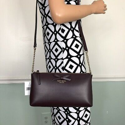 NEW Kate Spade sawyer street Leather Shoulder Crossbody Bag Purse Mahogany