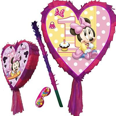 1st Birthday Pinata One Party club Stick house 1 New Junior Mouse UK Minnie - Minnie Mouse Pinatas