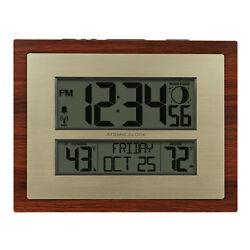 Better Homes & Gardens W86111 Atomic Digital Clock Bronze Brwn Cherry