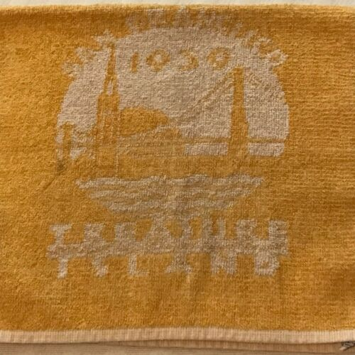 1939 Golden Gate Internation Exposition Towel Yellow and White