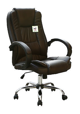 HIGH BACK EXECUTIVE SWIVEL COMPUTER DESK FAUX LEATHER OFFICE CHAIR, used for sale  Shipping to Ireland