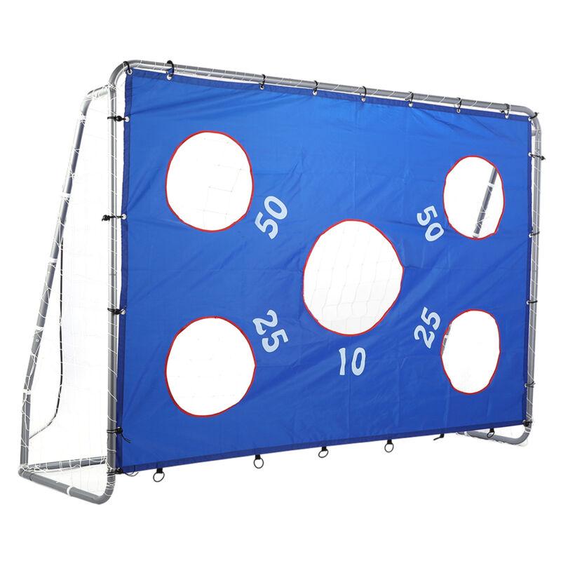 Großes stabiles Fußballtor mit Netz Torwand Tor 244x171x85cm