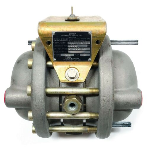 """199 Barton Differential Pressure Unit, 1000PSI, 0-200"""" WC"""