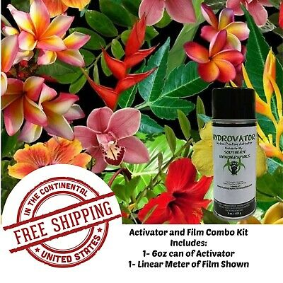 Hydrographic Film Water Transfer Hydro Dip Kit Activator Film Tropical Flowers