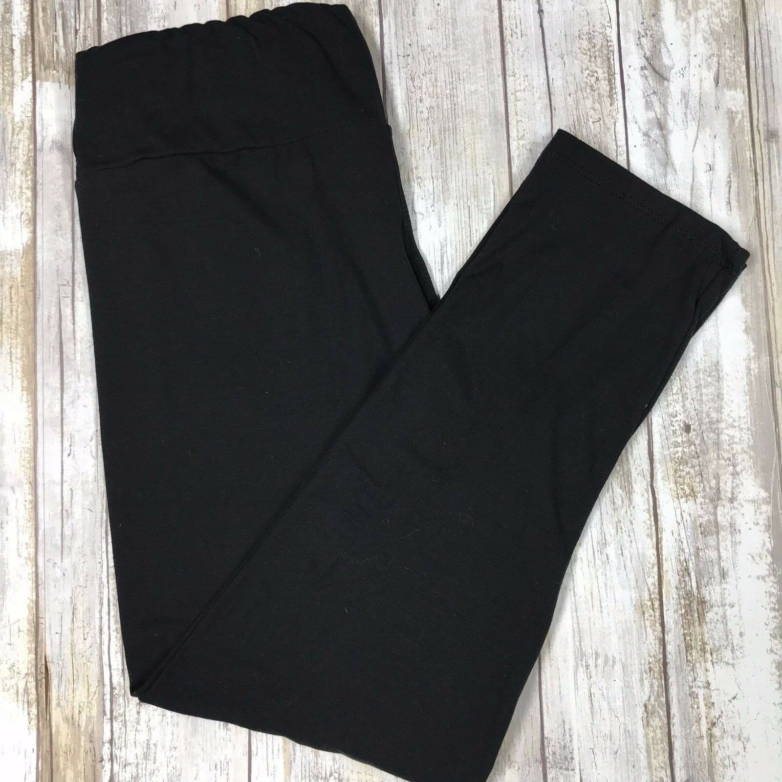 Leggings - Simply The Best Solid Black Leggings Butter Soft  OS TC Plus S/M L/XL Yoga Style