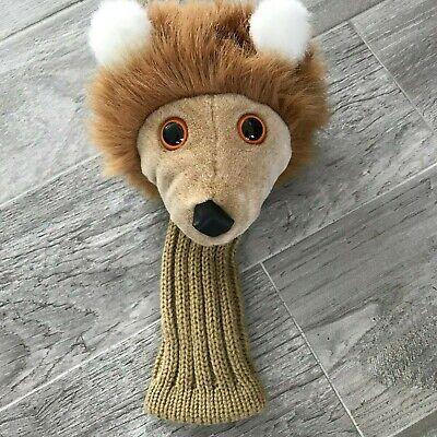 Lion Golf Club Head Cover by Steven Smith Stuffed Animals Lion Head Golf Club