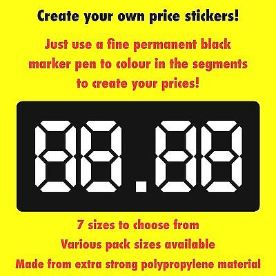 Vending Snack Machine Labels Stickers - Create Your Own Prices - 7 Sizes