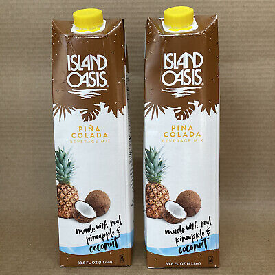 Island Oasis Pina Colada Beverage Drink Mix 33.8 Oz. 2 Pack