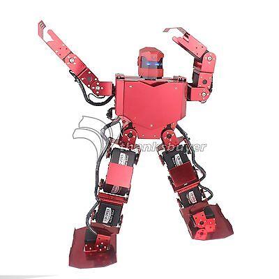 16DOF Robo-Soul H3.0 Biped Robtic Two-Legged Human Robot Aluminum w/ Helmet Red