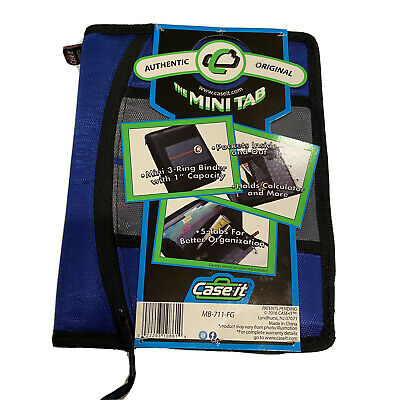 Case-it The Mini Tab 3-ring Binder With 1 Capacity Blue
