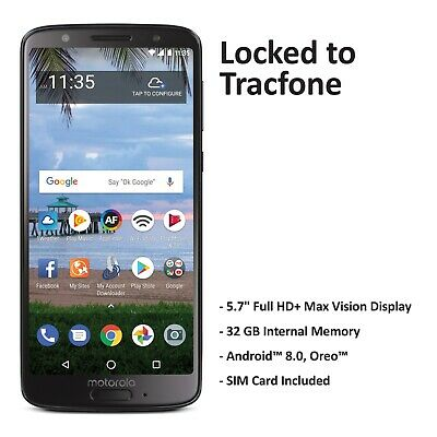 Tracfone Motorola G6 4GLTE Prepaid Phone (Refurbished)