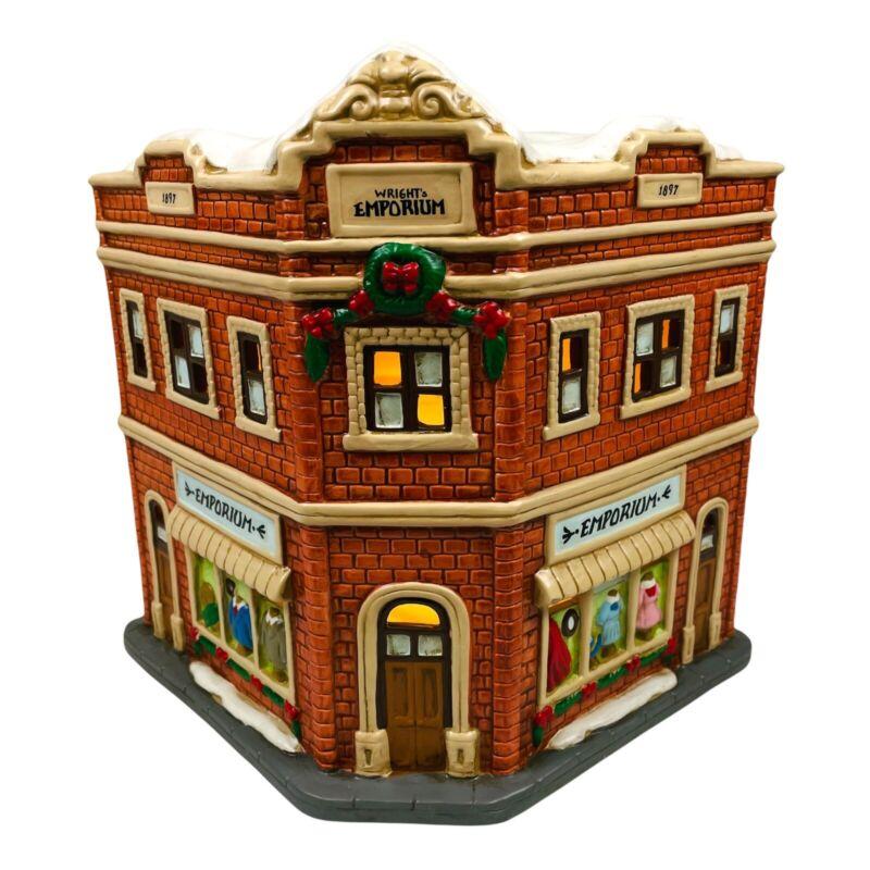 Lefton Colonial Village EMPORIUM #11264 Lighted Department Store Brick 1997