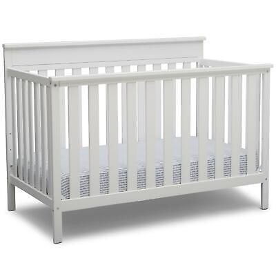 Delta Children Kingswood 4-in-1 Convertible Baby Crib, Bianc