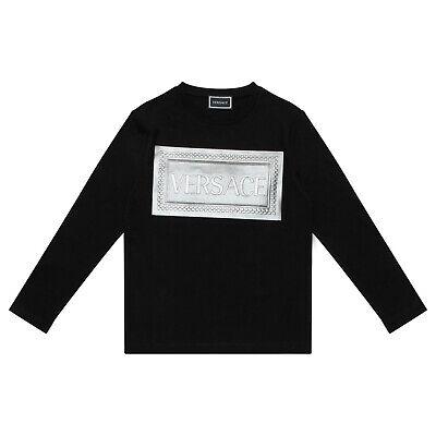 Young Versace T-Shirt Summer Season 2020 BNWT RRP £122.  Age 6 years. BLACK.