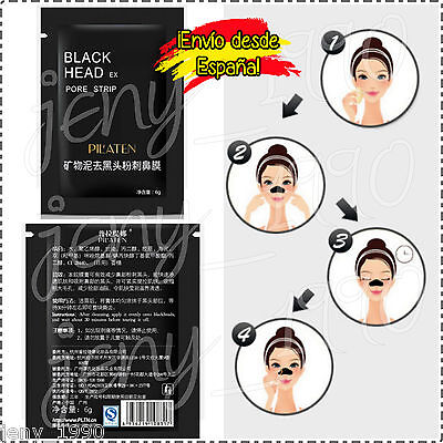 5 sobres black head mascarilla negra puntos negros - marca coreana Pil'aten...