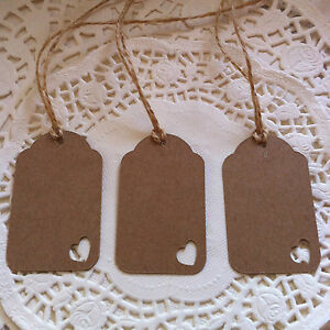 50 Handmade Shabby Chic Vintage Style Gift Tags/Wedding Favour Tags