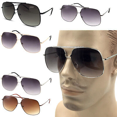 XL Big Head Extra Wide Sunglasses Pilot Square 148mm Frame Large Face Mens (Large Frame Male)