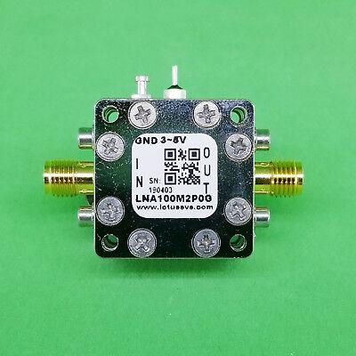 Broadband Ultra Low Noise Amplifier 0.45db Nf 100m2ghz 20db Gain 20dbm P1db Sma