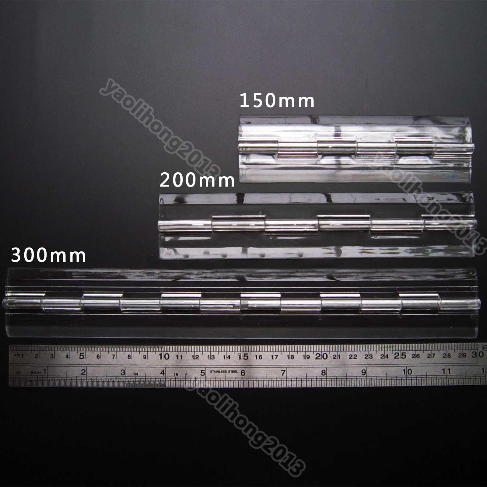 US Stock 2pcs Clear PMMA Acrylic Plastic Folding Plexiglass Hinge 300 x 45mm