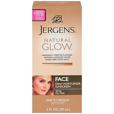 Jergens Natural Glow Face Daily Moisturizer with Sunscreen Spf 20 Fair To -