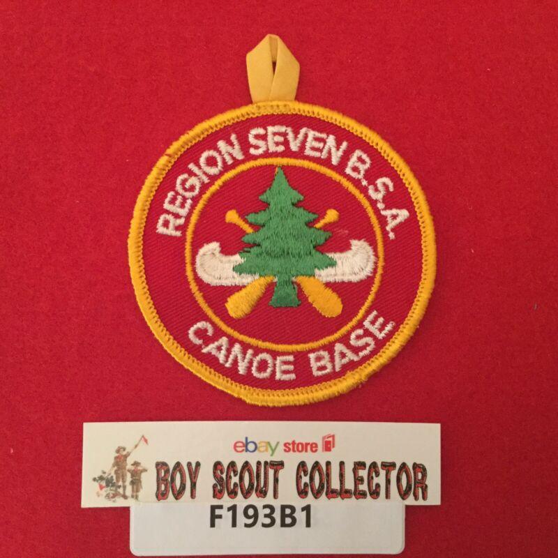 Boy Scout Region Seven B.S.A. Canoe Base Patch Round