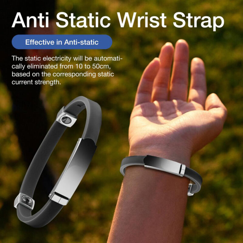 Portable Universal Adjustable Anti-Static Wristband Wrist Strap Bracelet Wide