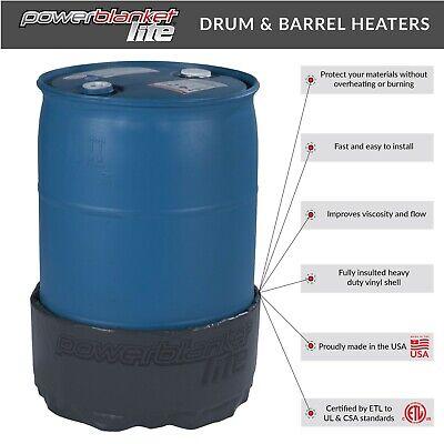 55 Gallon Drum Heater - Barrel Heater - Band Heater - Powerblanket Lite Pbl55