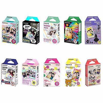 10 Packs FujiFilm Instax Mini Film Polaroid Picture 100 Inst
