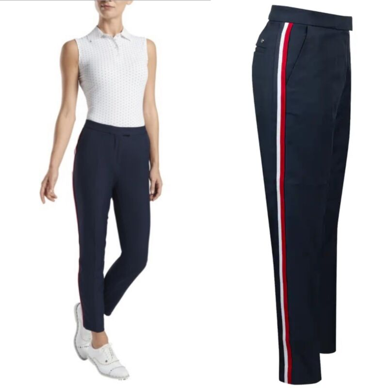 G/Fore Straight Leg Tux Trouser Pants $165 0 2 Twilight Blue Golf GFore