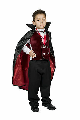 Boys Vampire Costume (Vampire Costume Boys kids Child Gothic/Dracula Vampire Size S M 4,5,6,7,8)