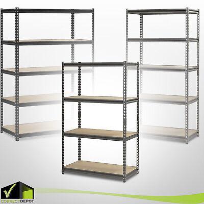HEAVY DUTY MUSCLE RACK Adjustable Steel Storage Metal Shelves 4-5 Levels Units