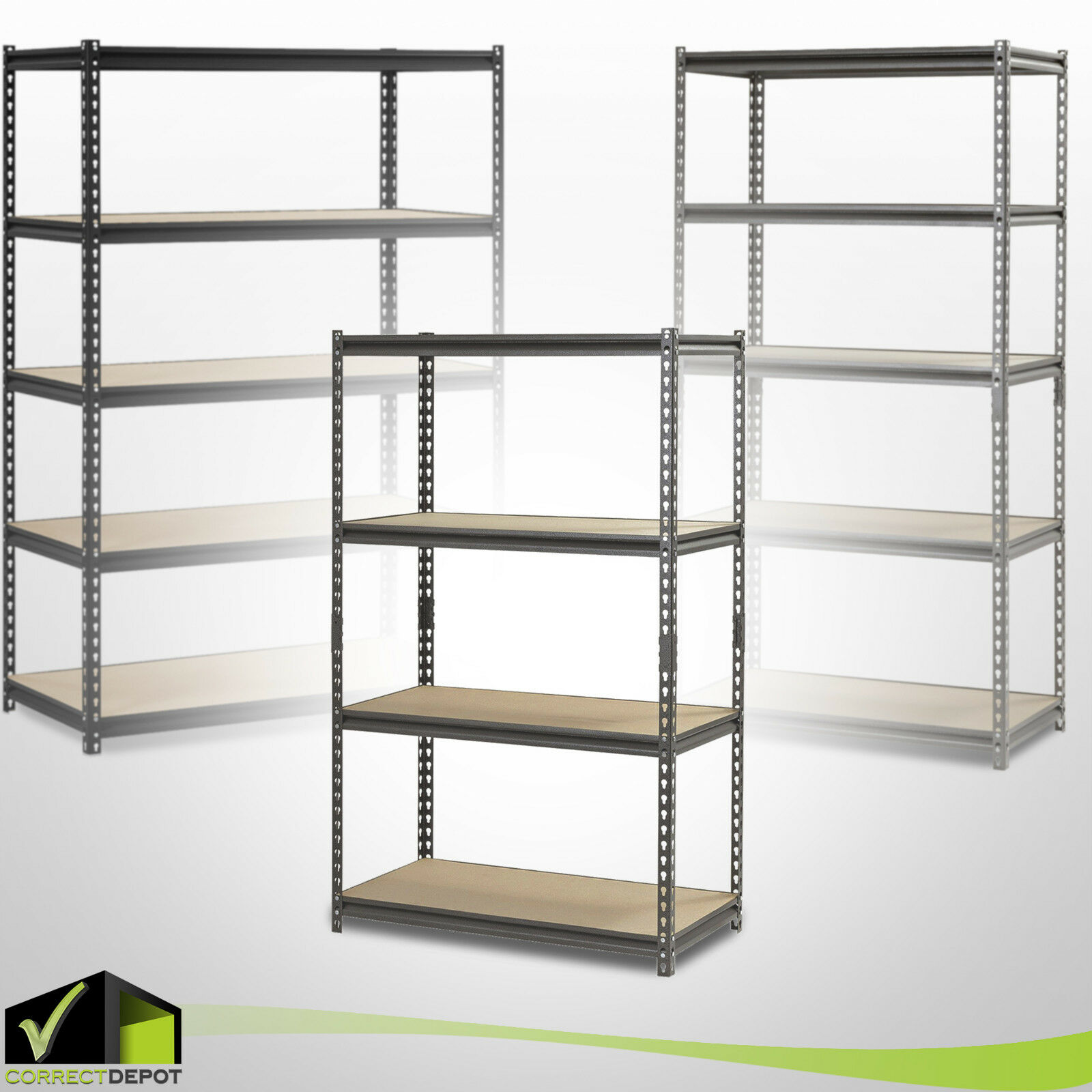 HEAVY DUTY MUSCLE RACK Adjustable Steel Storage Metal Shelve