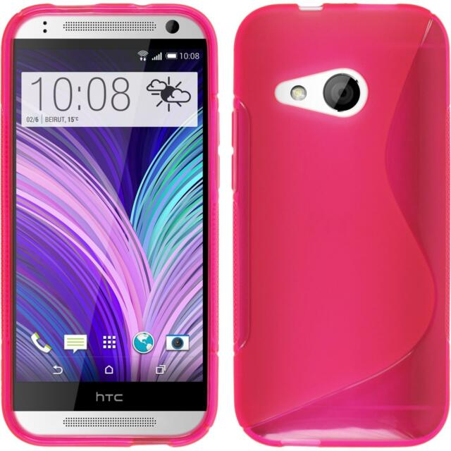 Silicone Case HTC One Mini 2 - S-Style hot pink + protective foils