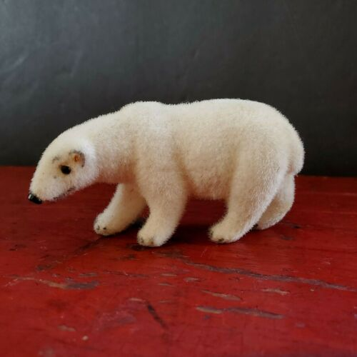 Kunstlerschutz Wagner Polar Bear Animal Figure Flocked Vintage 1966-83