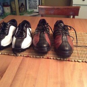 One pair Nike size 8 and one pair Adidas size 9 mens golf shoes