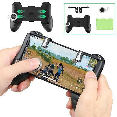 4in1 Gaming Joystick Handle Holder Phone Controller + Shooter For PUBG Fortnite