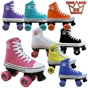 Kingdom GB Canvas RollerSkates - VALKYRIE Adult / Kid Quad ROLLER SKATES UK 13-8