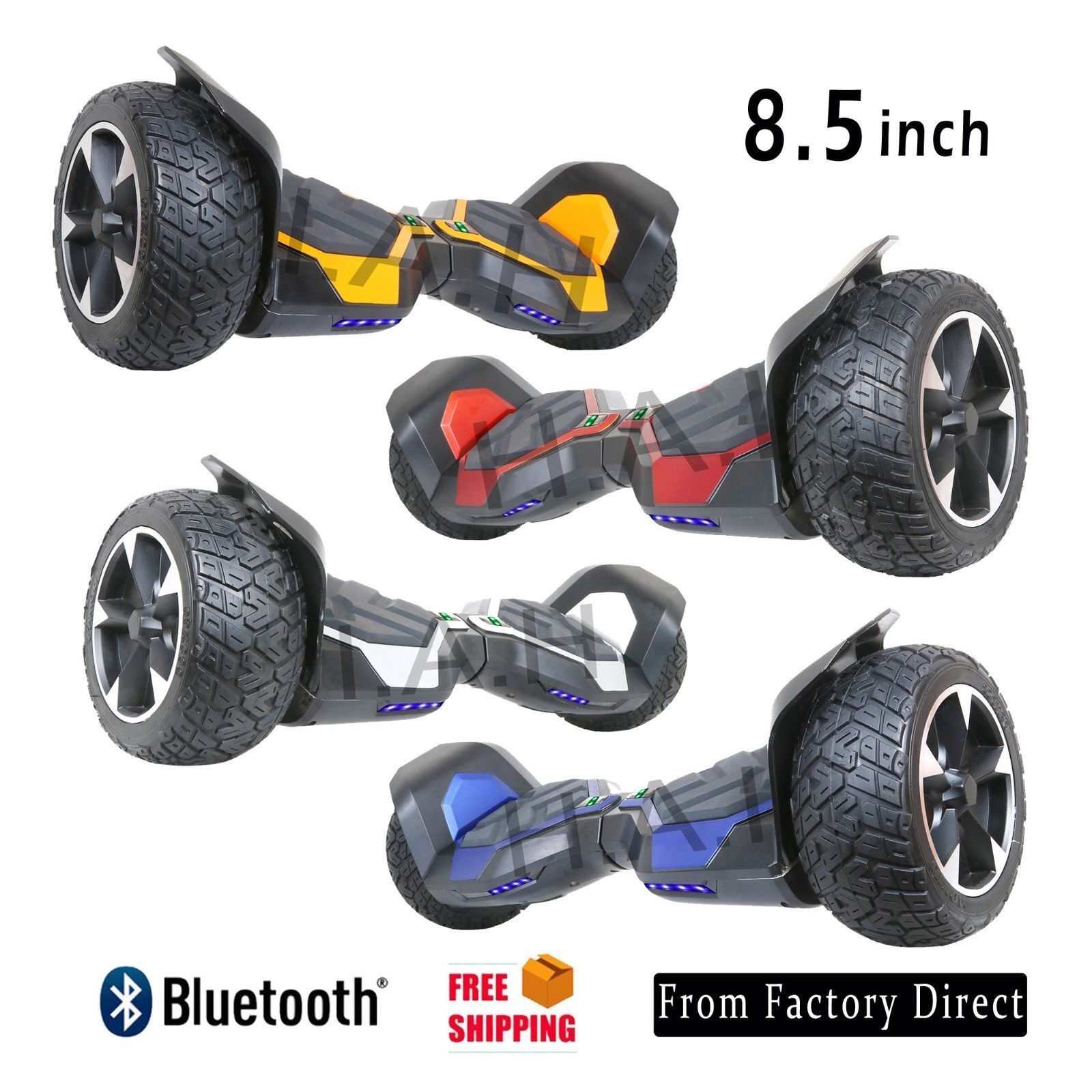 8'' Hoverboard with Bluetooth, Off Road Full Metal Body Scoo