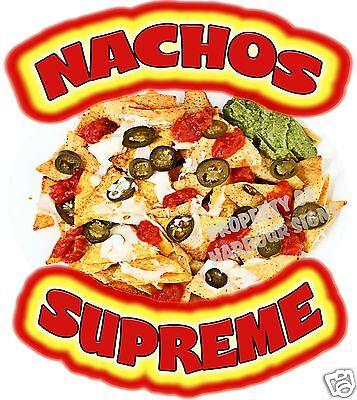 Nachos Supreme Decal 8 Chips Concession Trailer Food Truck Menu Vinyl Sticker