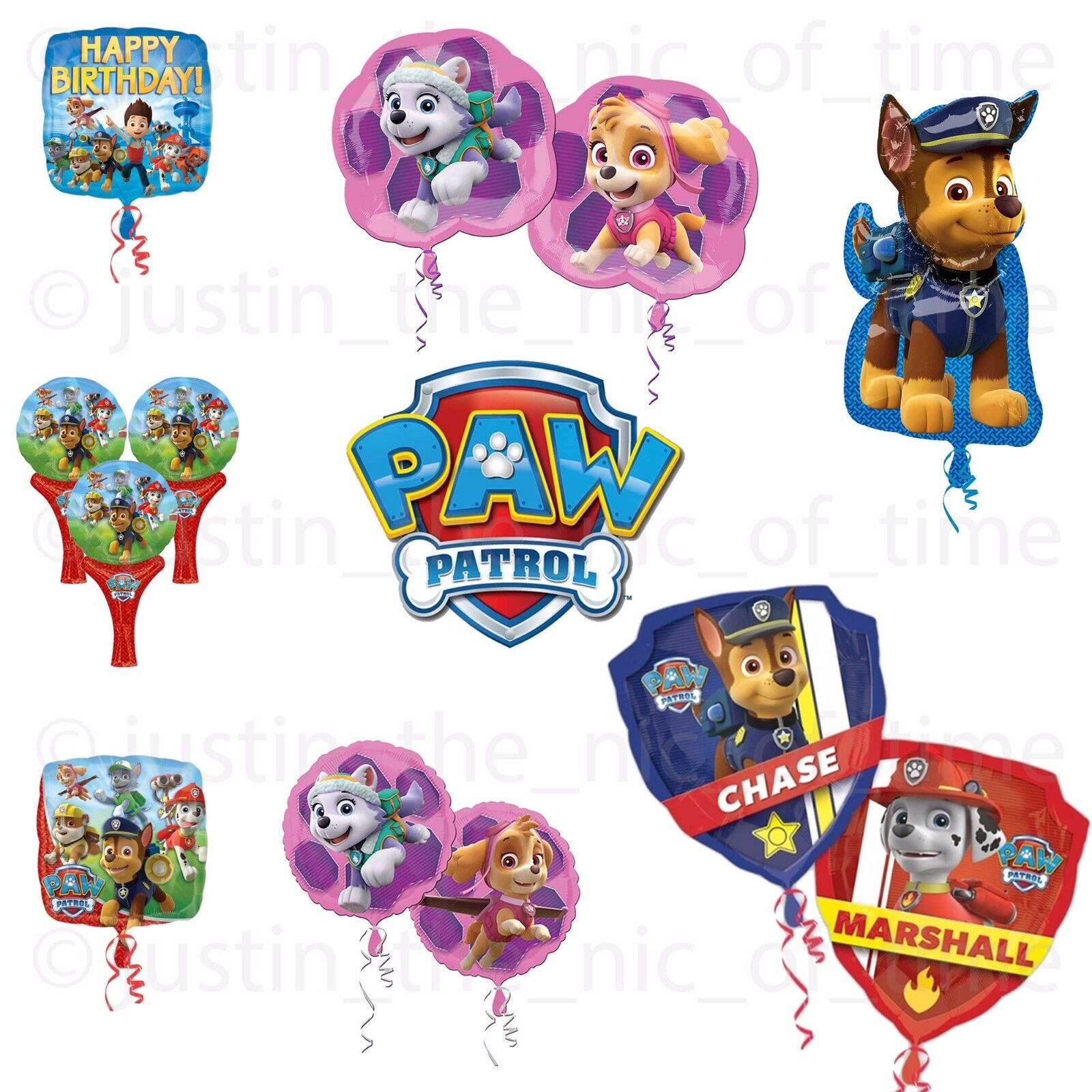 PAW PATROL Rescue Pups Party Foil Balloon Helium Birthday BALLOONS