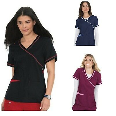 New Koi 382 Revive V-neck scrub top Available in Navy, Black & Wine sizes XS-XL