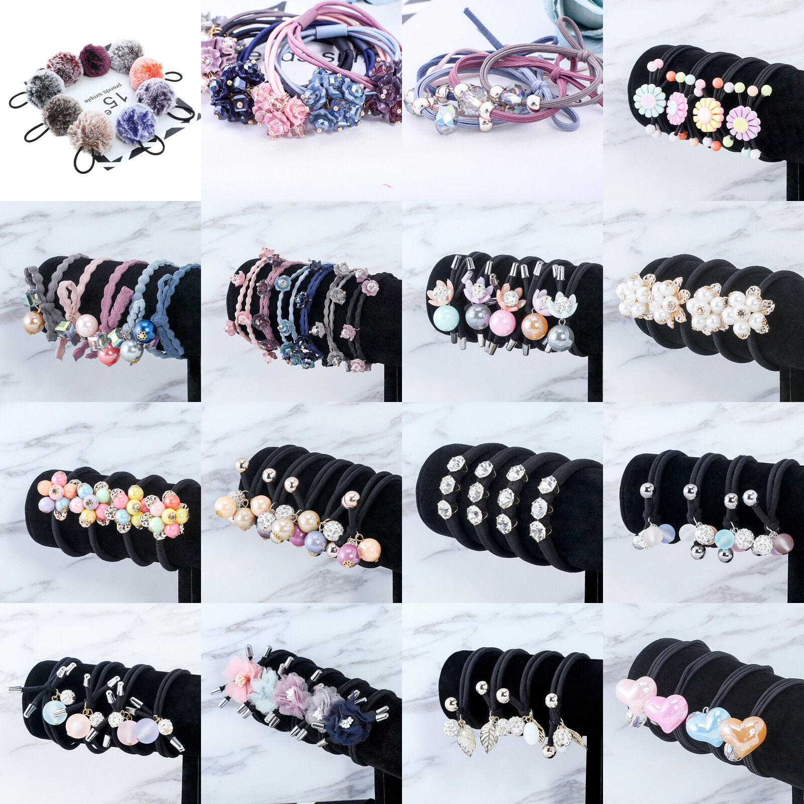 Fashion Women's Flower Elastic Hair Tie Band Rope Ring Hairb