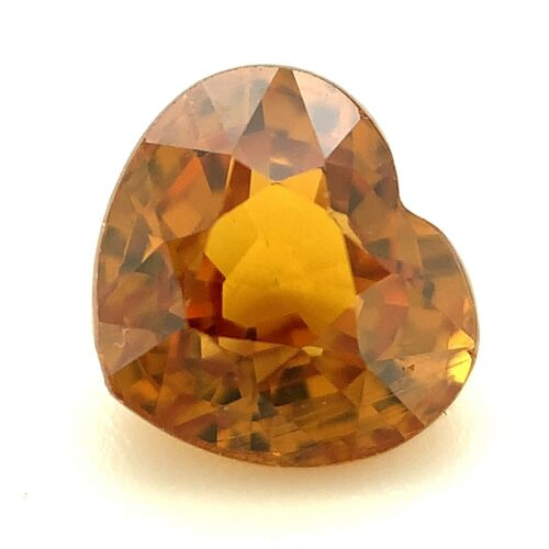 1.53ct Honey Color Grossular Garnet, Heart, Mixed, VVS Natural Gemstone *Video*