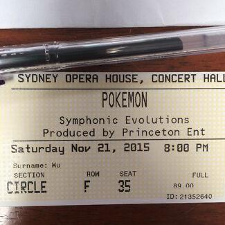 2x Pokemon Symphonic Evolutions, Sydney Opera House A Reserve Circle  Sydney City Inner Sydney Preview