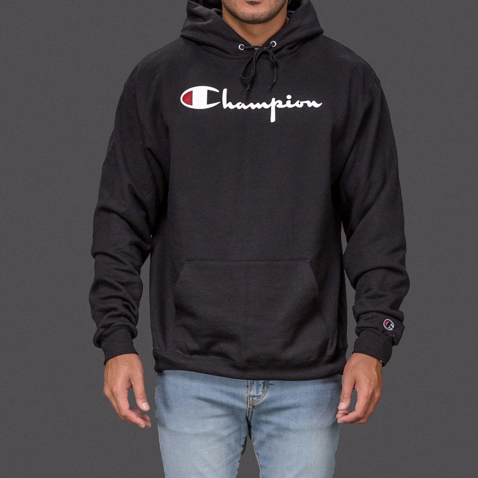 Худи или толстовка для мужчины Black Authentic Champion sportswear logo  hoodie hoody hooded sweatshirt - 222664224927 - купить на eBay.com (США) с  доставкой ... 34cf38620d2b