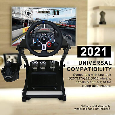 2021 Upgraded Foldable G29 Racing Steering Wheel Stand Plus Gearshift Mount