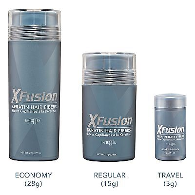 Xfusion Hair Fiber - XFusion Keratin Hair Fibers - Black / Dark Brown / Medium Brown / Light Brown