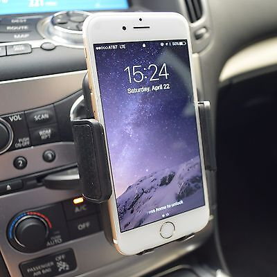 Car CD Hollow Stereo Dash Mount Cell Phone Holder for iPhone 7 Plus